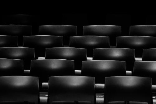 dark seats in a theater