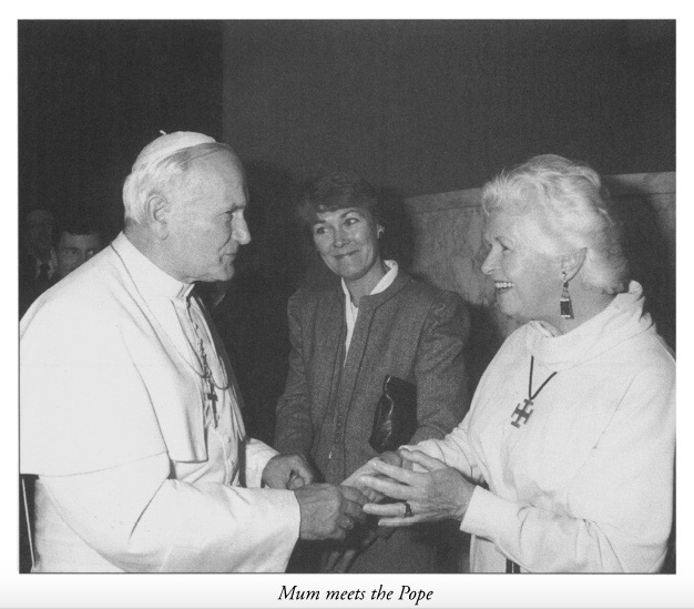 Mum meets the Pope