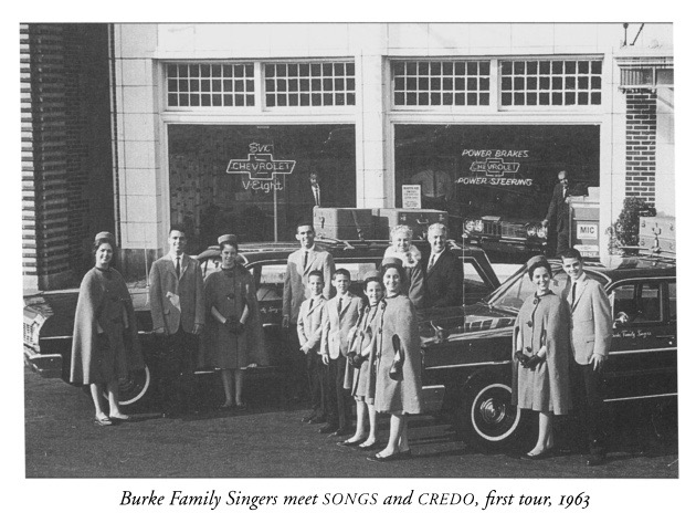 Burke Family Singers meet SONGS and CREDO, first tour 1963