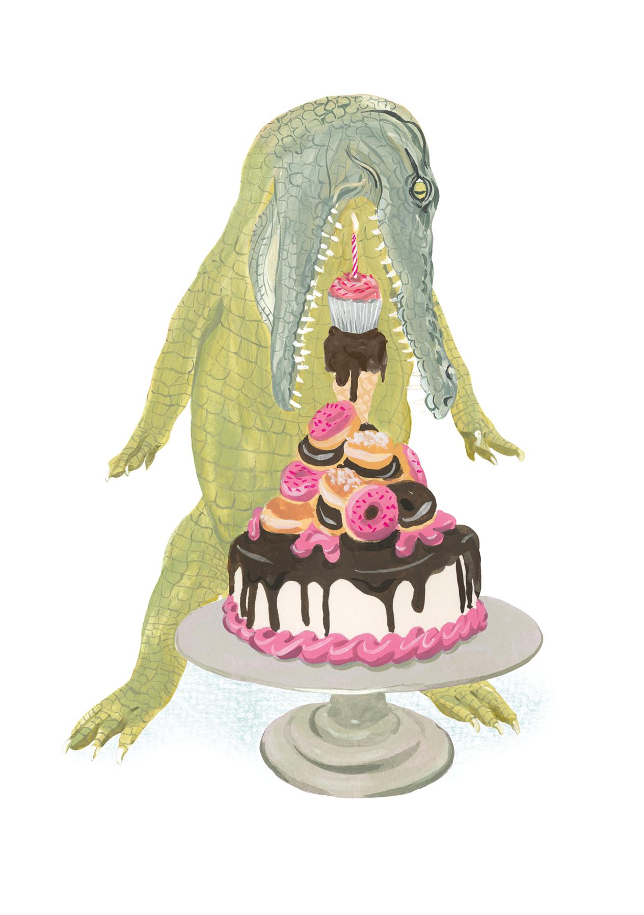 CCCA05 Animal Birthday Card Crocodile 5th Birthday Card 5th Birthday Card Child Birthday Card Fun Birthday Card