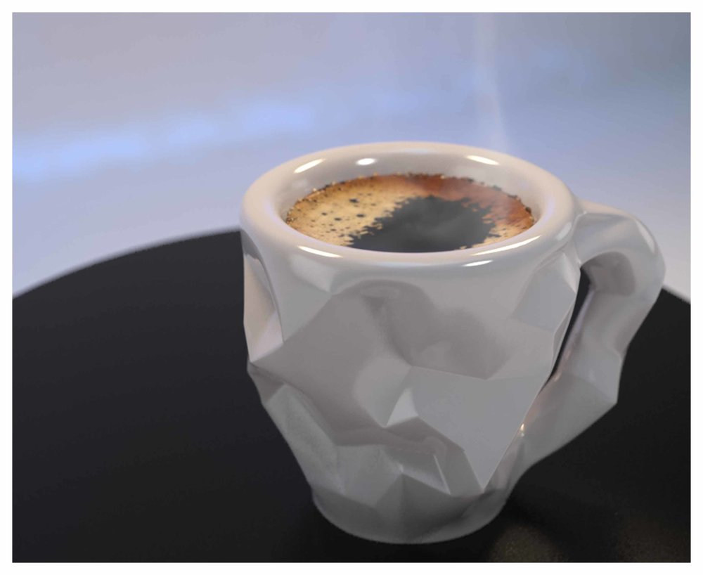 Crushed Espresso Cup Design