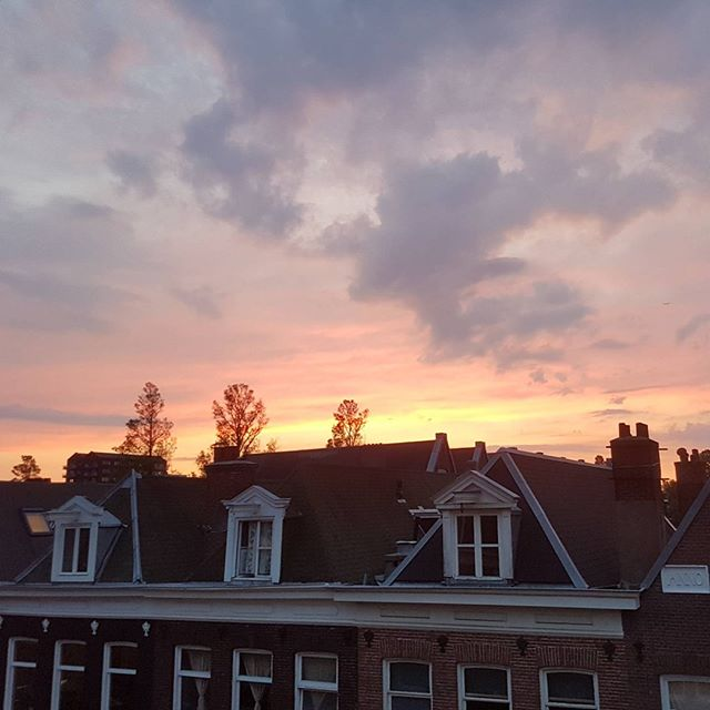 Just a #beautiful sky, here in #Amsterdam