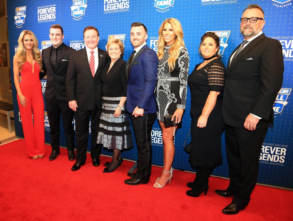 Haley Dillon, Ty Dillon, Richard Childress, Judy Childress, Austin Dillon, Whitney Ward, Tina Dillon, Mike Dillon
