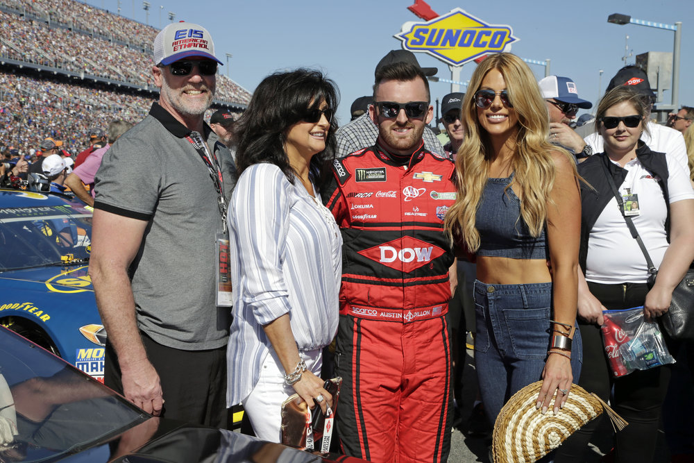 Rick Ward, Shawnee Ward, Austin Dillon, Whitney Dillon / 2018 / Pre Race Daytona 500