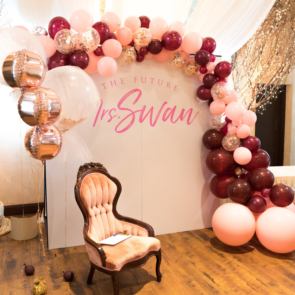 one of the most important parts of a bridal shower is the backdrop for the bride to open her gifts this will be photographed the most during the shower and