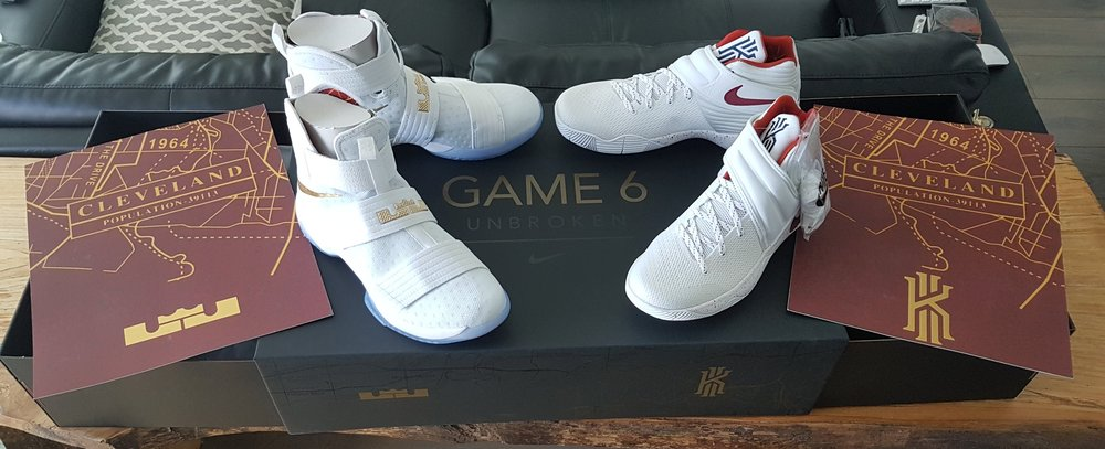 super popular b98fb 80949 Nike Lebron Kyrie Four Wins Championship Pack - Game 6 Unbroken