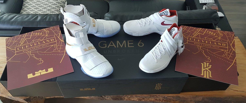 bda66481258 Nike Lebron Kyrie Four Wins Championship Pack - Game 6 Unbroken ...