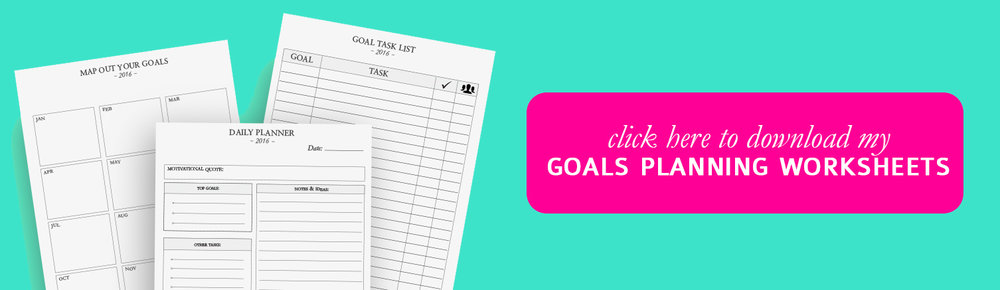 Goal Planning Worksheets by The Handmade Mastermind