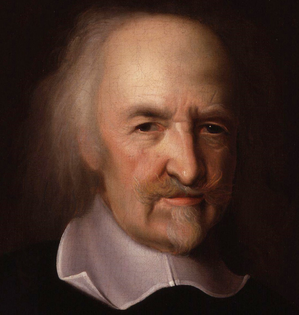 Thomas Hobbes, by John Michael Wright oil on canvas, circa 1669-1670