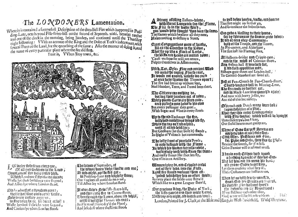 London's lamentation: or, Godly sorrow and submission. By George Elliott, author of God's warning-piece to London. Eliot, George, 17th cent. [London: s.n., 1665?]