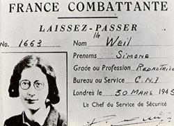 Simone Weil's photo ID (1943)