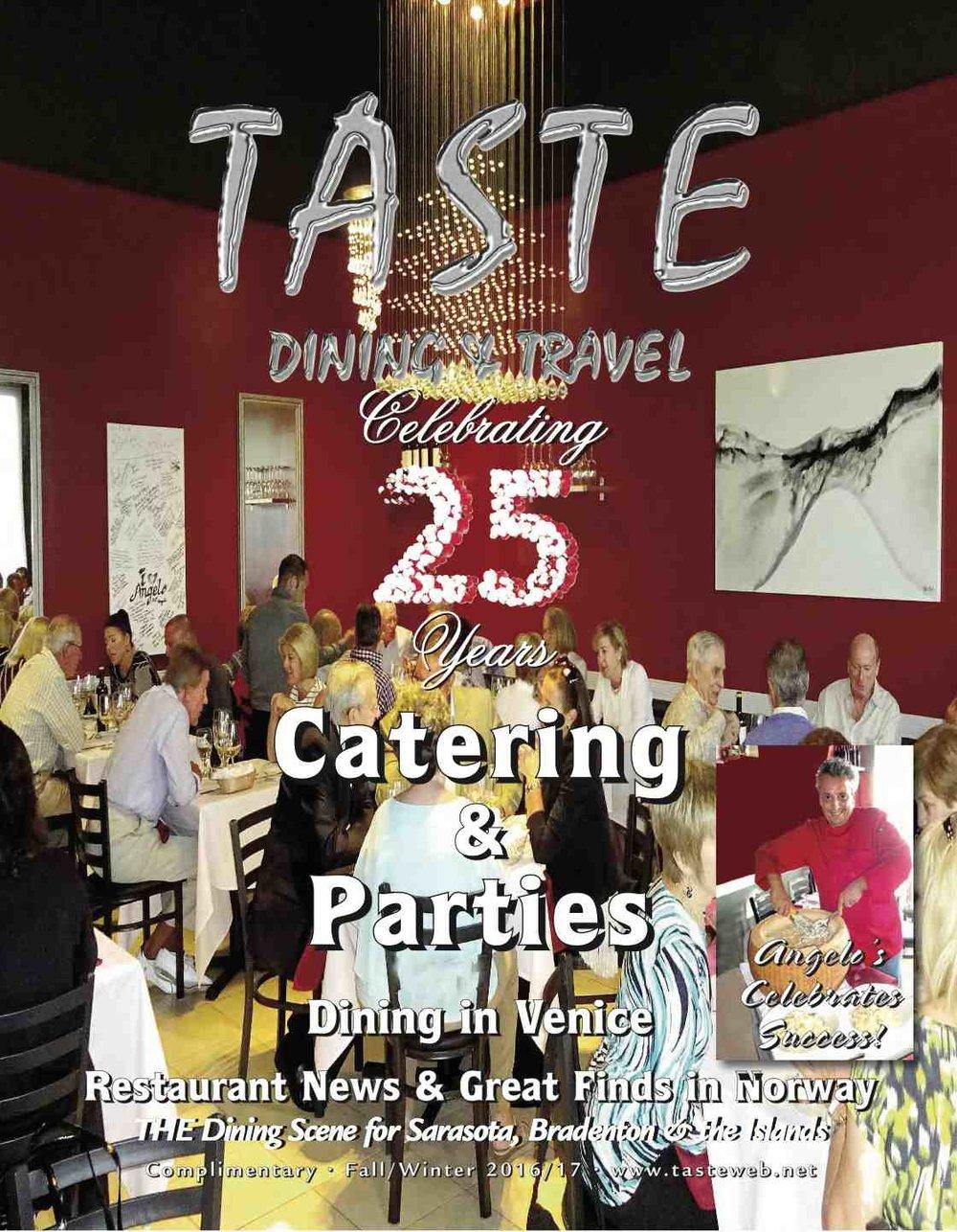 Taste. Dining & Travel Magazine Cover