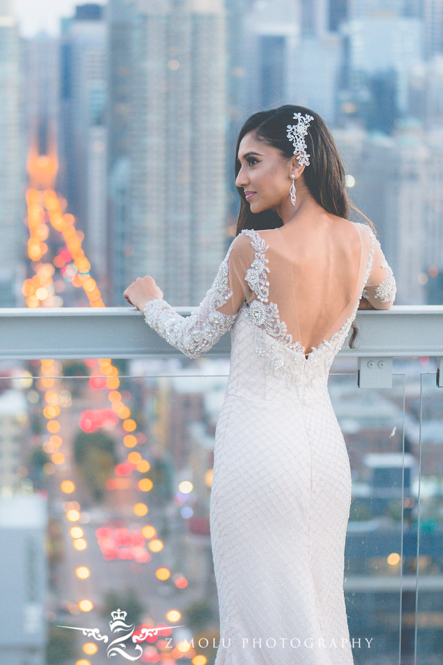 Hand Beaded Wedding Gown by Viero