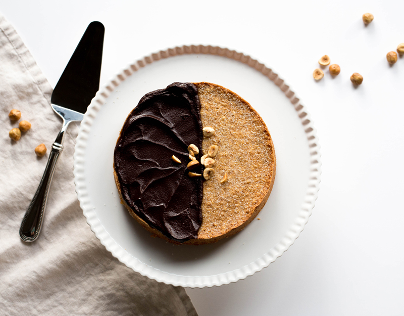 Brown butter hazelnut cake