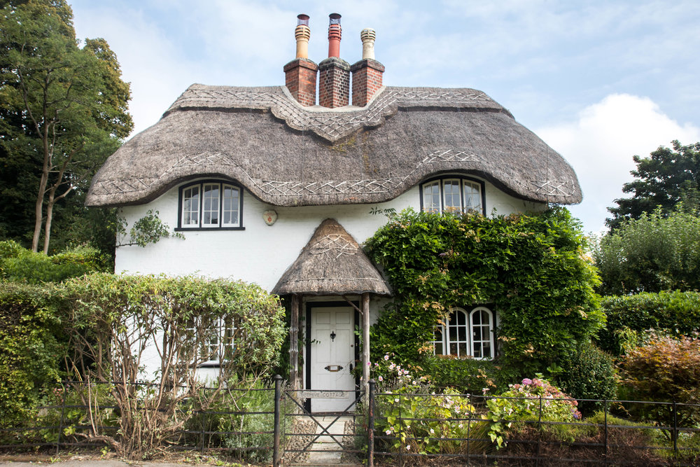 A fairytale thatched cottage in The New Forest, Hampshire, England.