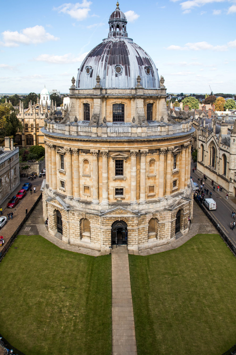 View of Radcliffe Camera from The University Church of St. Mary, Oxford.