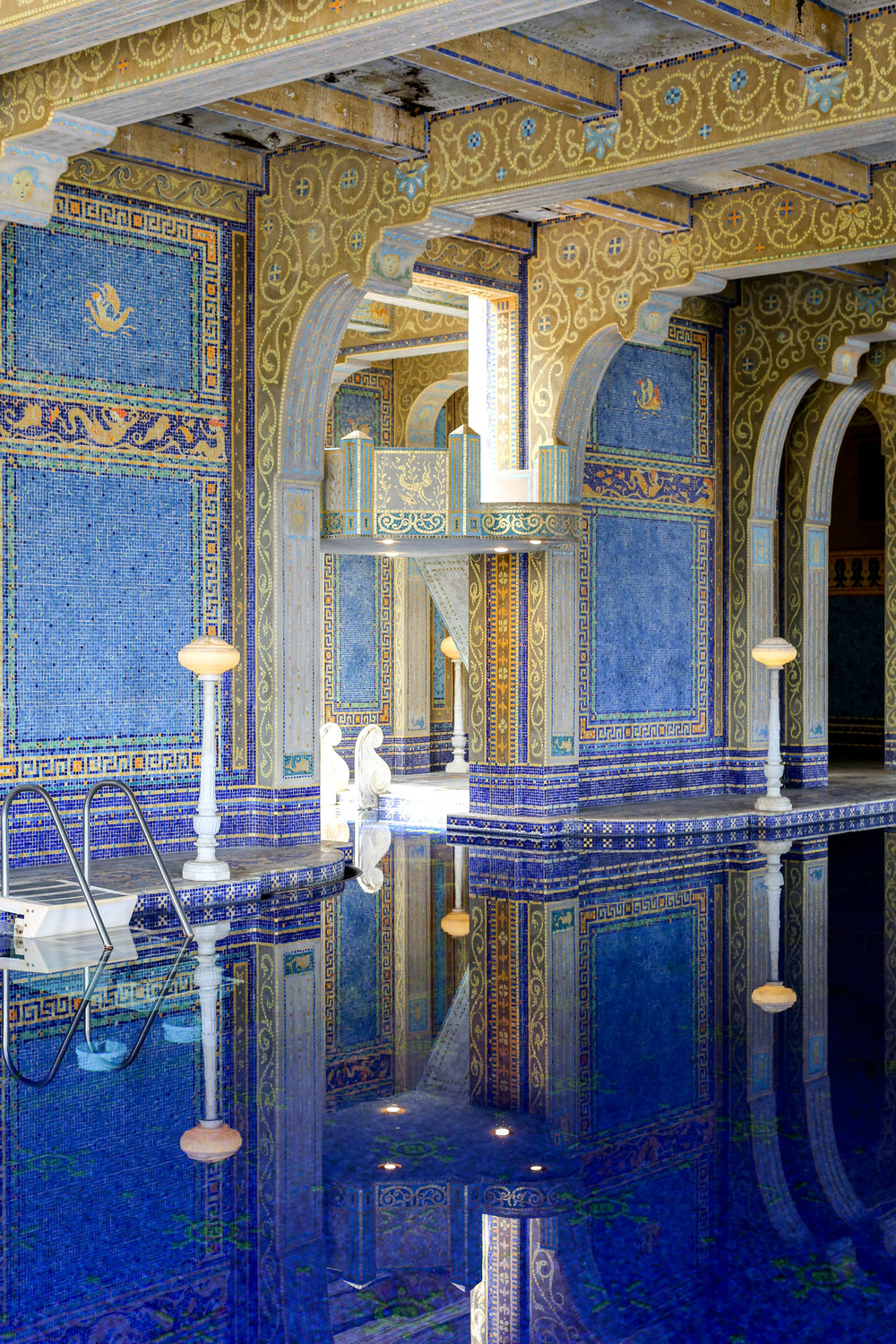 The Pool House at Hearst Castle.