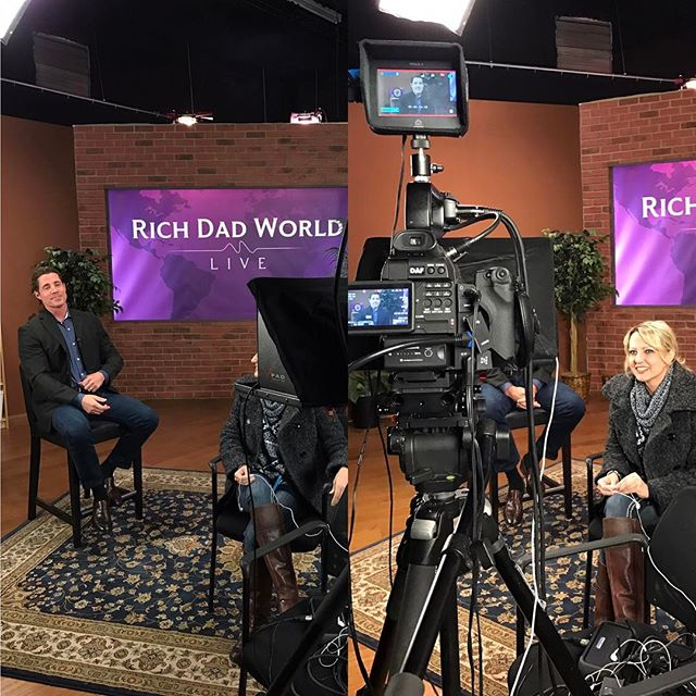 Werkin' for Rich Dad Coaching in the studio today, with @brandygirl000 . #ladydp #womeninfilm #richdadpoordad t
