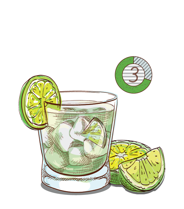 Best Caipirinha - Espirito XVI Cachaca Brazil National cocktail lime muddle sugar shake.png