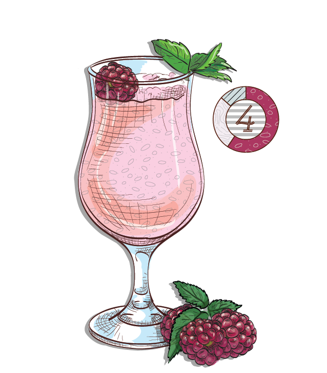 Strawberry Batida - Espirito XVI Cachaca raspberry shake cocktail
