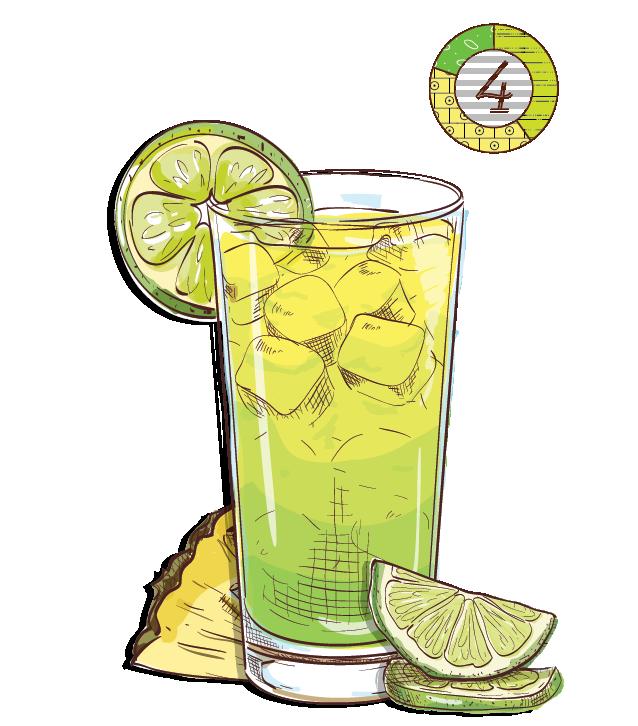 Blanka Lemonade - Espirito XVI Cachaca pineapple lime lemon cocktail.png