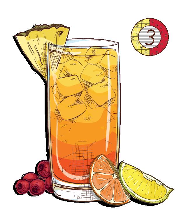 Rio Bae Breeze - Espirito XVI Cachaca pineapple lime lemon cranberry orange cocktail.png