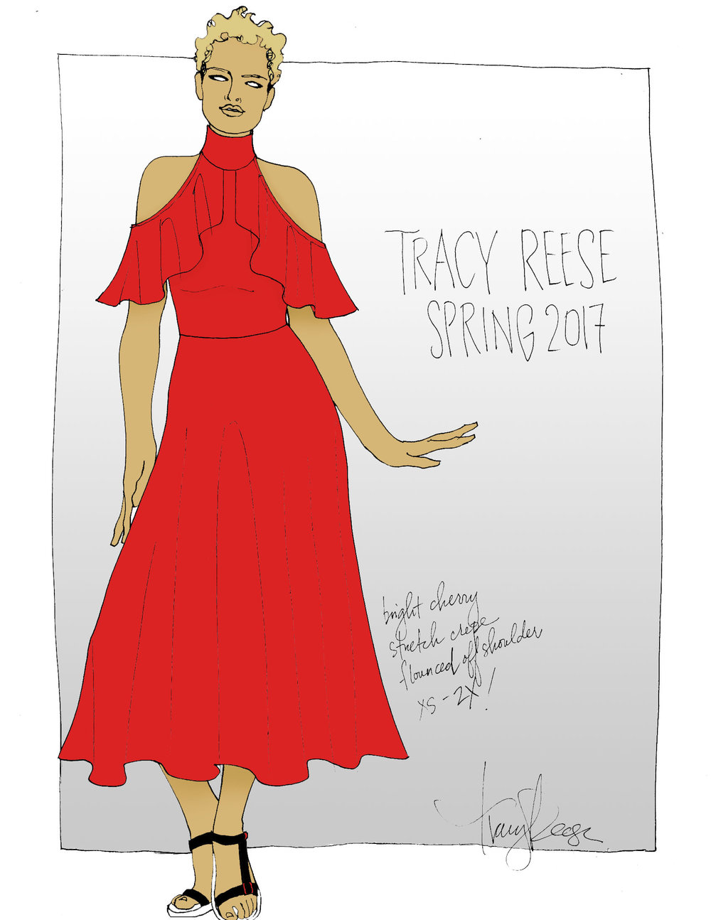Tracy Reese Spring17 Sketch for Refinery29