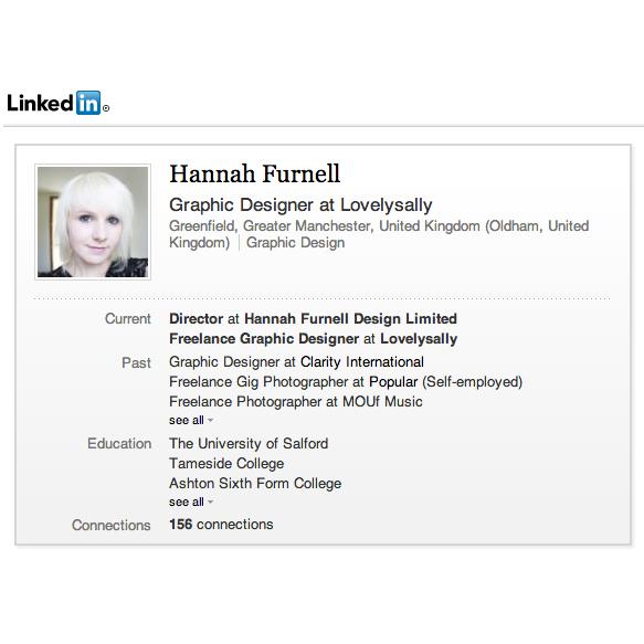 linked in hannah furnell portfolio cv