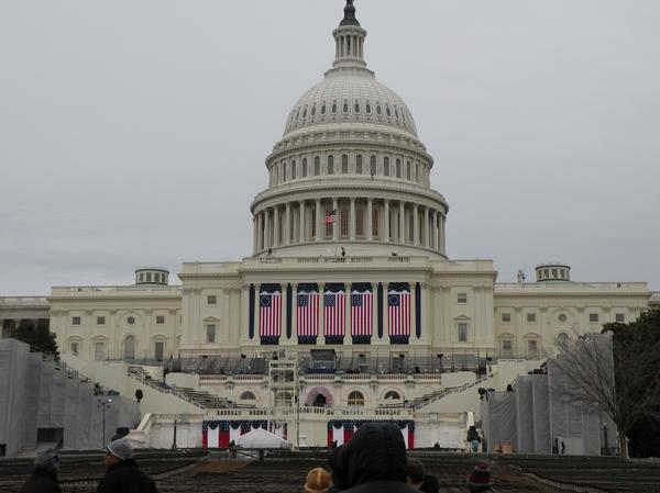 US Capitol a few days before President Obama's inauguration. January 2009. Photo courtesy of myself.