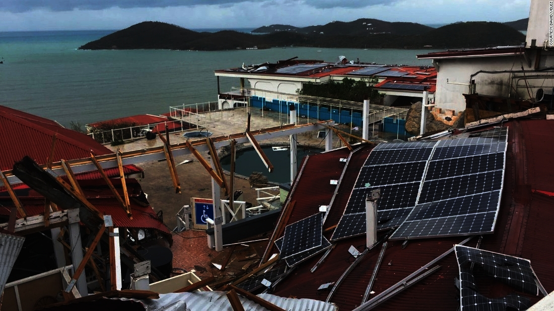 Hurricane Irma Damage Essment Flight Over St Thomas