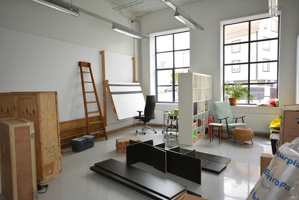 Kristin Velle-George's studio on the second floor (moving in)
