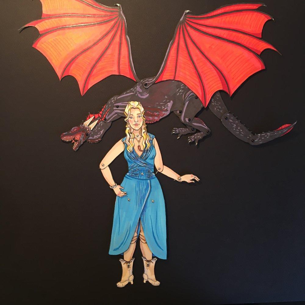 Danaerys Breaker of Chains + Drogon