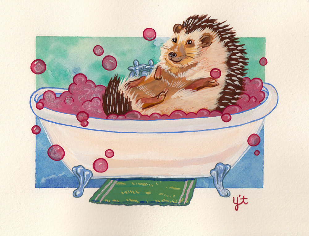 Bathtub Hedgehog