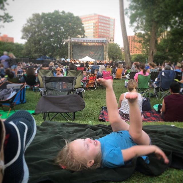 ...Indiana's first time to listen to the Nashville symphony.  #dancinginthepark #williamtelloverture
