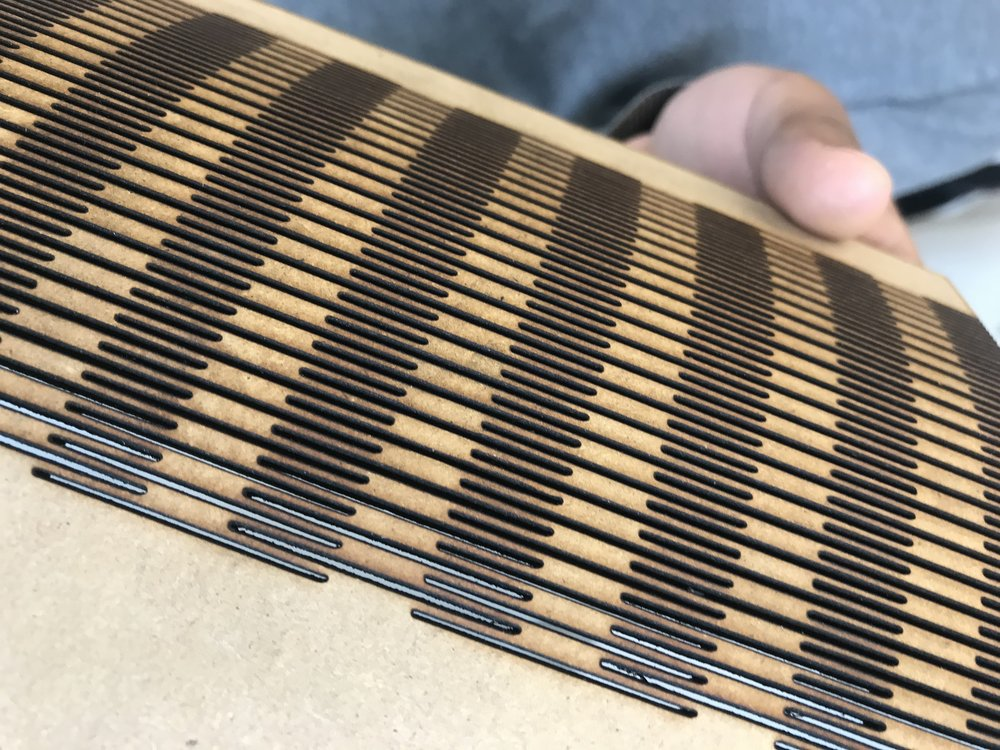 The magical, flexible sheet of laser cut wood