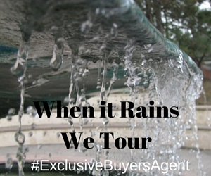 Exclusive Buyer Agents schedule home inspections when it rains