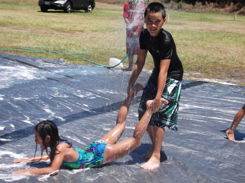 Grace Bible Church Ohana Sundays Maui Hawaii - Slip and slide