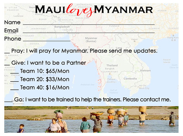 Maui Loves Myanmar