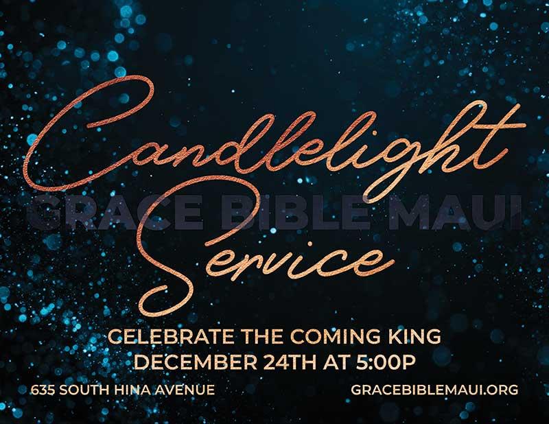 Grace Bible Church Christmas Candlelight Service