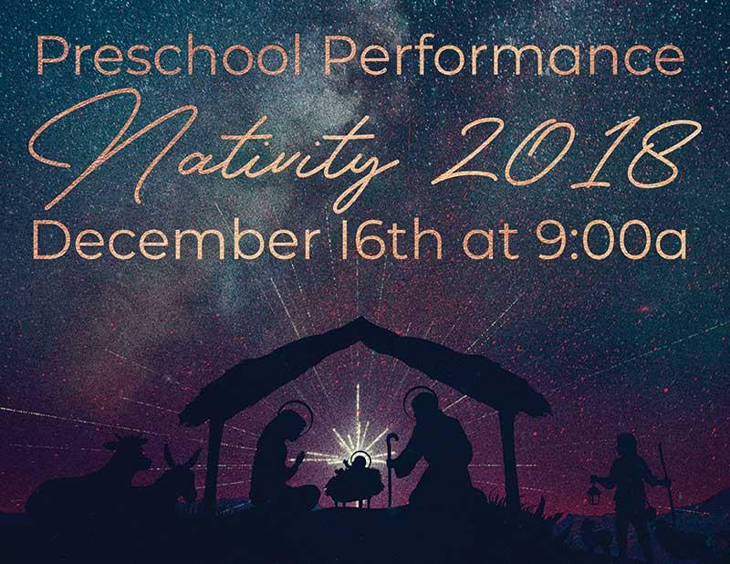 Grace Bible Church Preschool Nativity Performance