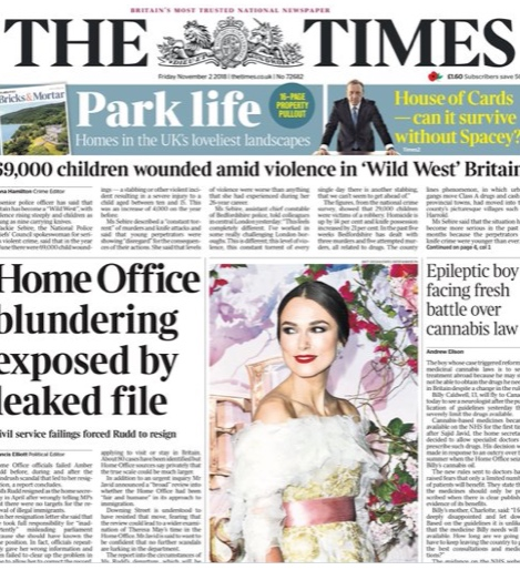 The Times - 2nd November 2018