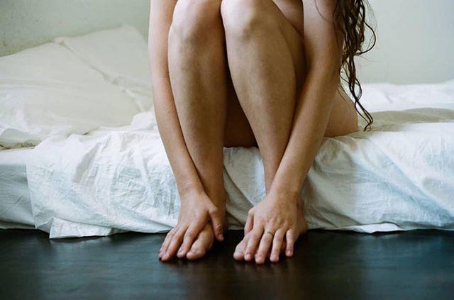 repost @johannastickland ・・・ Hands, feet, bed, hair. Photo by me  #girlgaze . . #johannastickland #brooklyn #newyork