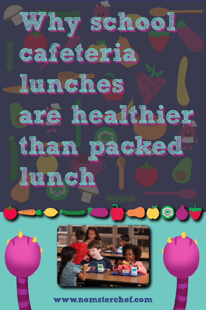 Why school cafeteria lunches are healthier than packed lunch