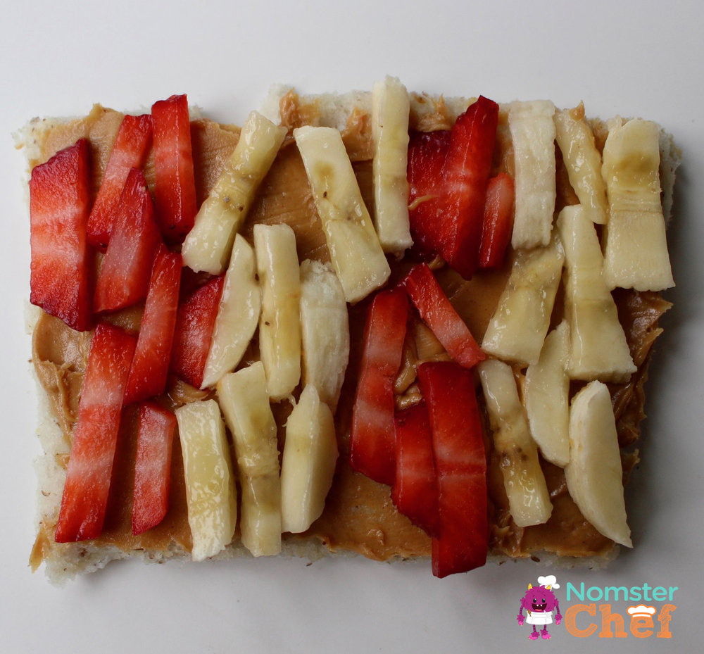 strawberry banana peanut butter and jelly PBJ _Nomster Chef_5 Healthy Lunches for Kid Chefs