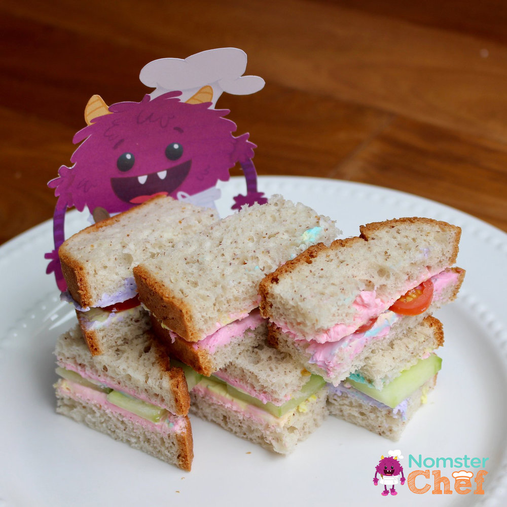 unicorn+cream+cheese+sandwich_Nomster Chef_ 5 Healthy Lunches for Kid Chefs