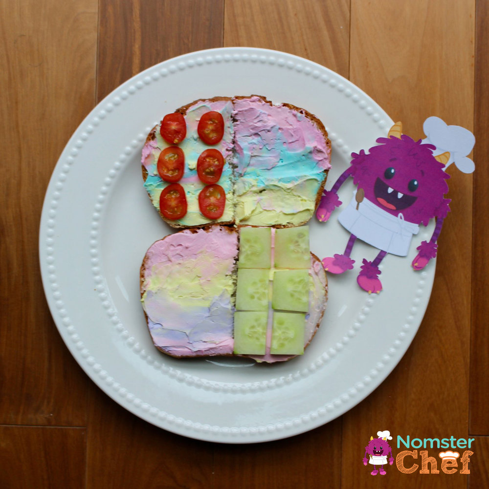 unicorn toast Nomster Chef_5 Healthy Lunches for Kid Chefs