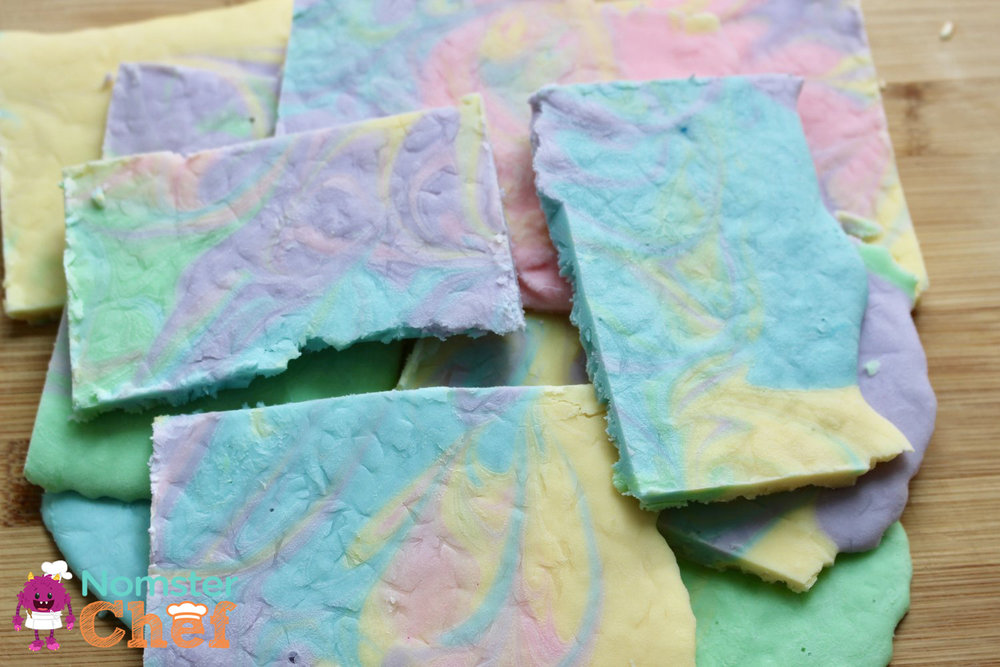 Healthy Easter Treat for Kids_Easter Yogurt Bark - Unicorn Bark - Nomster Chef