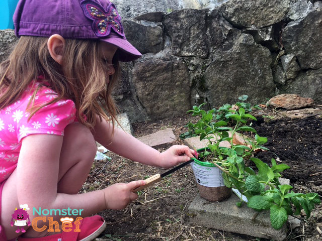 Gardening-with-kids | kids-planting-herbs-3 | Nomster Chef