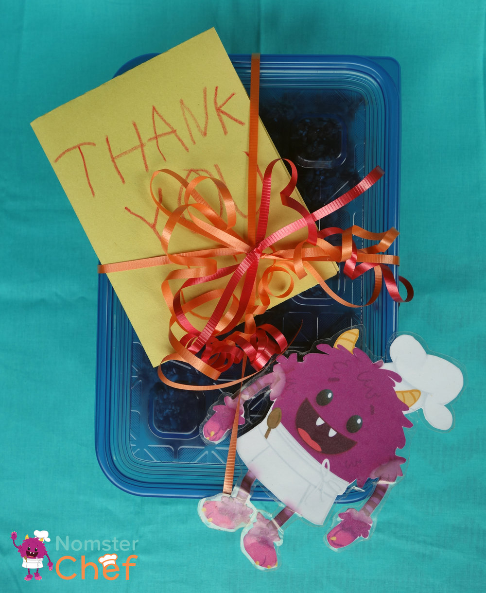 DIY Teacher Appreciation Gift Kids Can Make- Nut and Seed Brittle-card and gift wrap-Nomster Chef
