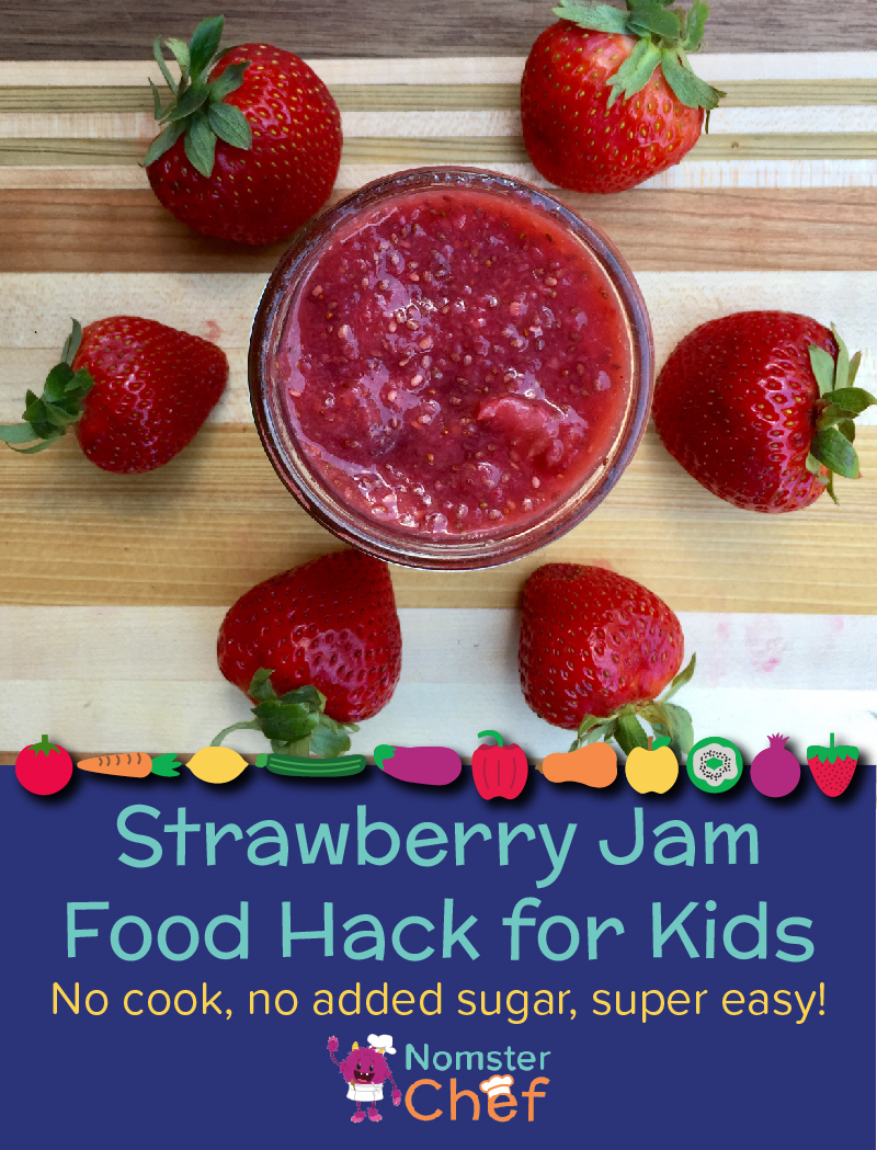 food hacks make your own strawberry jam - Nomster Chef